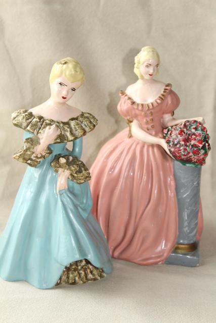 40s 50s Vintage Chalkware Figures Doorstops Southern