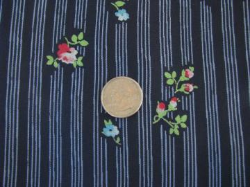 Green 1940/'s Vintage Small Pedicab Novelty Print Woven Cotton Fabric White Base With Blue Black Print 1 yard by 36 wide Umbrella /& Bike