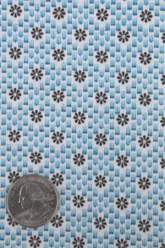 40s 50s vintage tiny daisies print cotton fabric, 36 wide x 4 yards
