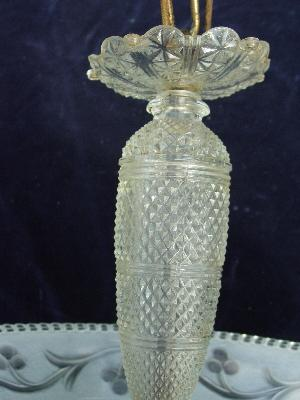 40's chandelier vintage glass shade