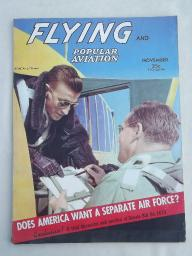 40s vintage Flying & Popular Aviation magazine w/ many old airplane photos