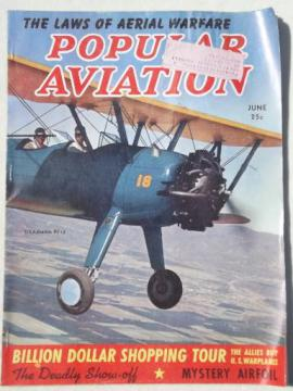40s vintage Popular Aviation magazine, from airplane pilot estate collection