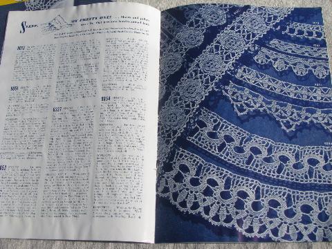 40s Vintage Crochet Booklets Lot Lacy Trims Lace Edging Patterns