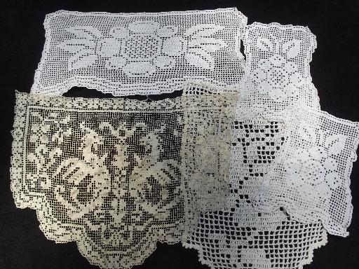 50 Pieces Vintage Lace Work Pieces Mats Crochet Doilies Chair Sets