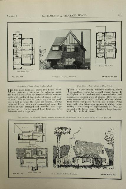 House Plan Small Home Design: 500 Small House Design Plans Vintage Early 1900s 20s 30s