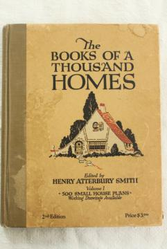 500 small house design plans vintage early 1900s 20s 30s, book of tiny houses cottages