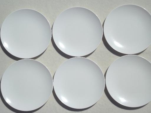 & 50s 60s vintage melmac plates w/ mod turquoise u0026 white print pattern