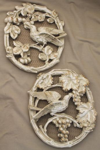 Plaster Wall Art vintage chalkware - wall plaques & carnival chalkware