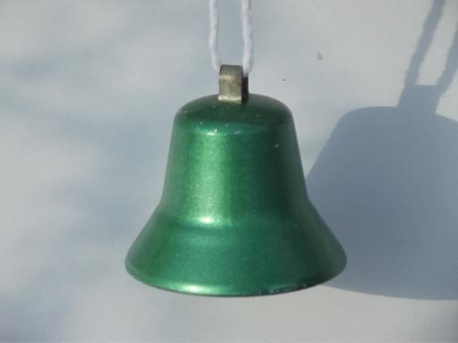 S metal bell christmas ornaments vintage holiday