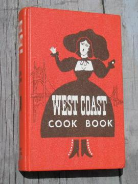 50s vintage West Coast Cook Book, kitschy recipes, cute retro cover!