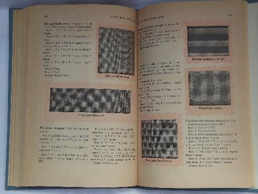 Books On Different Knitting Stitches : 50s vintage Wise Knitting and Crochet needlework book, stitches and patterns
