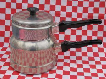 50's vintage aluminum cookware, Mirro 1 1/2 qt. double boiler