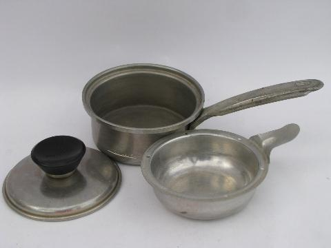Small Mirro Egg Poacher Pan W Lid
