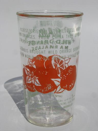 50s vintage jelly glass, Cahill's Wild Orange marmalade from Phoenix
