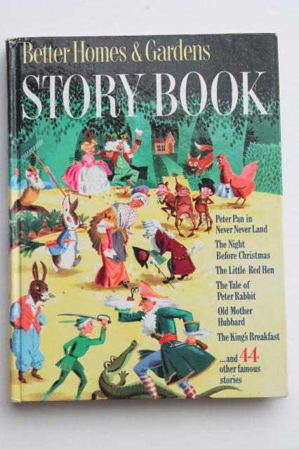 50s vintage picture books w/ large color illustrations, BH&G Story Book & Mother Goose