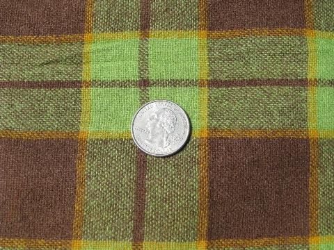 felting wool fabric 50s 60s bright plaid lot vintage wool fabric for sewing crafts