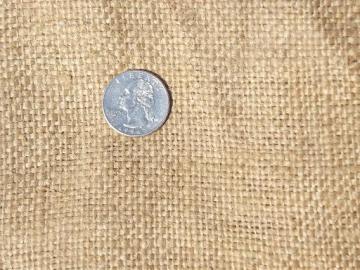 6+ yards ratty old burlap fabric, primitive vintage feed bag sack yardage