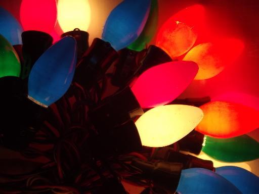 Vintage Christmas Lights.60s 70s Vintage Christmas Lights Lot Big Light Bulbs W