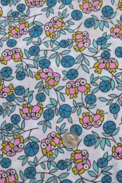 Vintage fabric 60s 70s 80s for Retro baby fabric