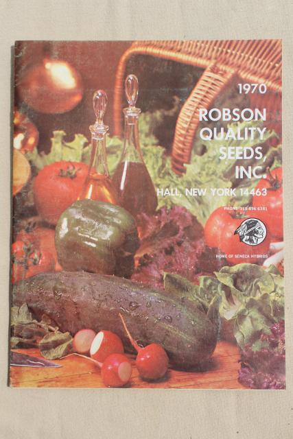 60s 70s vintage garden seed catalogs, old vegetable and flower seed varieties w/ photos