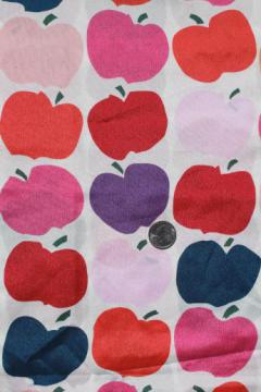 60s 70s vintage print poly fabric, Marimekko style big apple design, very mod!