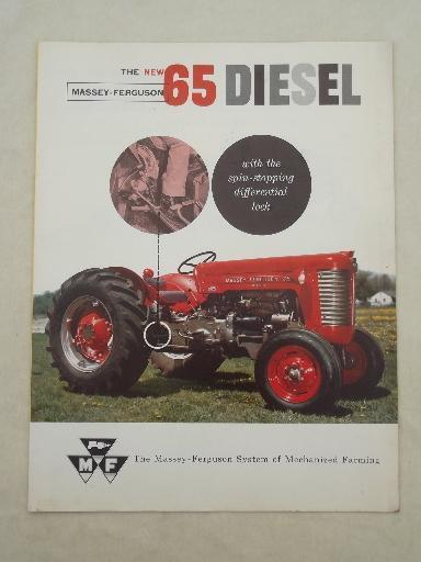 60s Massey Ferguson 65 Diesel Tractor Advertising Leaflet Specs Photos