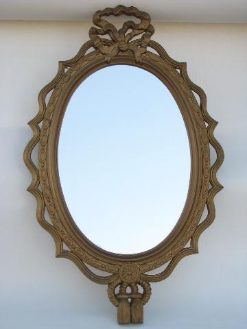 60s french country style gold rococo frame w mirror for Long tall mirrors