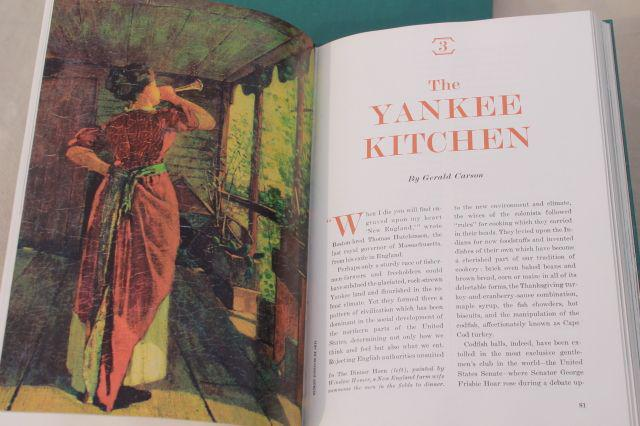 60s vintage American Heritage Cook Book, food history traditional recipes