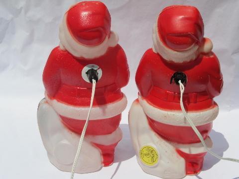 Vintage santa plastic bits 60 s
