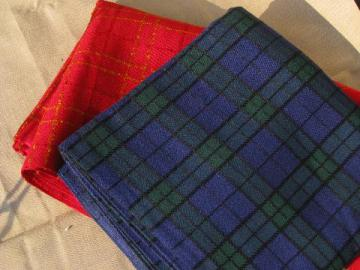 60s vintage heavy plaid fabric, schoolgirl plaids for skirts, shorts