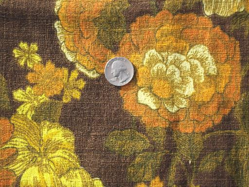 vintage home decor fabric 60s vintage home decor fabric lot retro flowers mod print 11797