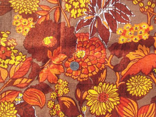 vintage home decor fabric lot retro flowers mod print cotton
