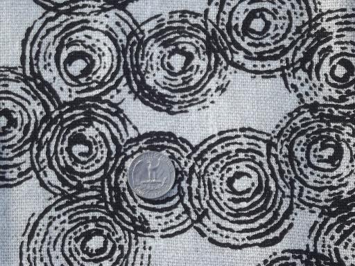 vintage home decor fabric lot, retro flowers mod print cotton