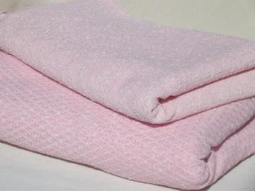 60s vintage knit suiting fabric in ladylike pink, retro Italian knit fabric
