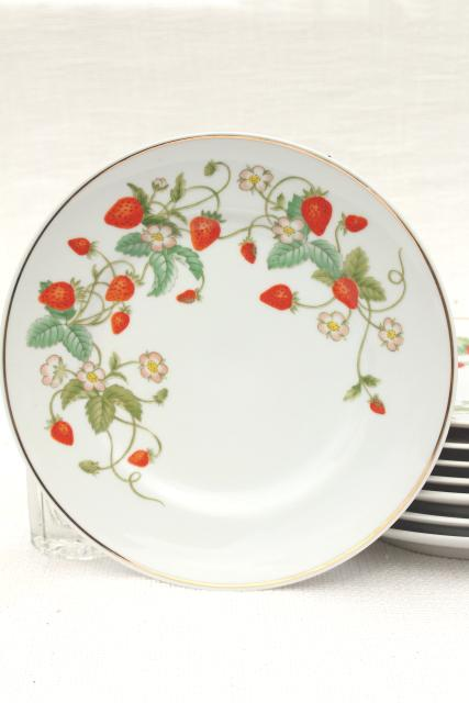 70s Vintage Avon Strawberry Pattern China Salad Or Dessert Plates W/ Red Strawberries Set Of 8 Sc 1 St Laurel Leaf Farm  sc 1 st  pezcame.com & Strawberry Plates Dinnerware u0026 10 Strawberry Street Lotus Silver ...