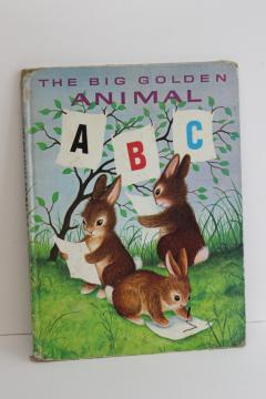 70s vintage Big Golden Book Animal ABC, Garth Williams picture book