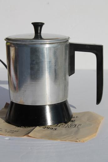 70s Vintage Fairgrove Electric Hot Pot 4 Cup Size