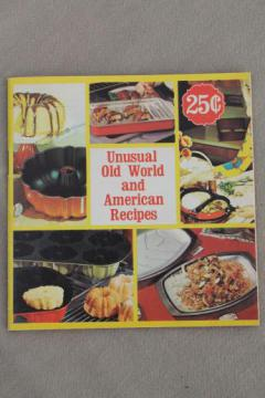 70s vintage Nordic Ware cookbook, traditional recipes for cakes, cookies, ebleskiver etc.