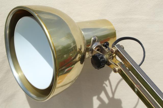 70s Vintage Brass Desk Light Industrial Anglepoise Style