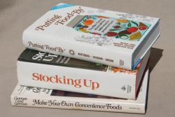70s vintage cookbooks for self-sufficiency preppers, made from scratch recipes