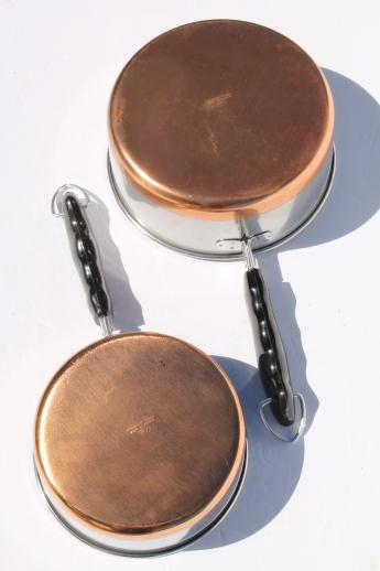 70s Vintage Copper Bottom Stainless Steel Pots Amp Pans Set