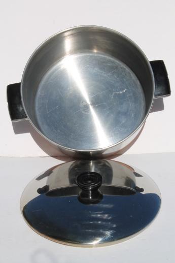 70s Vintage Copper Bottom Stainless Steel Pots Amp Pans Set