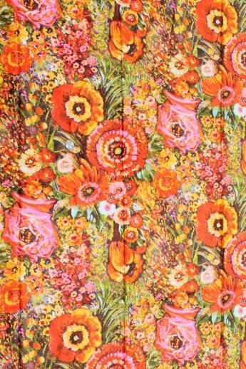 Retro print 1970s fabric
