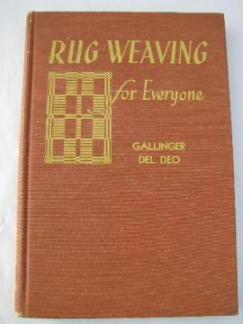 70's vintage needlework instruction book, Rug Weaving for Everyone