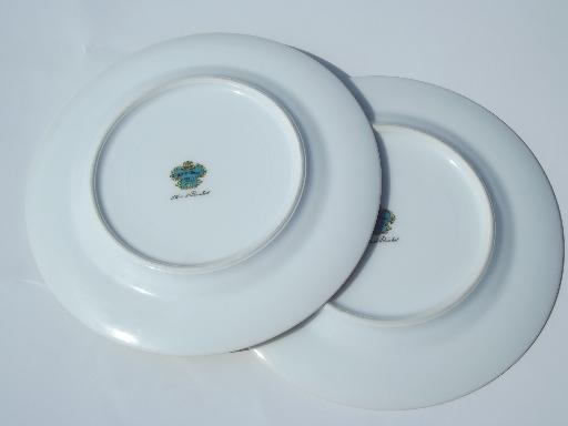 8 vintage Meito hand-painted Japan china bread and butter or dessert plates