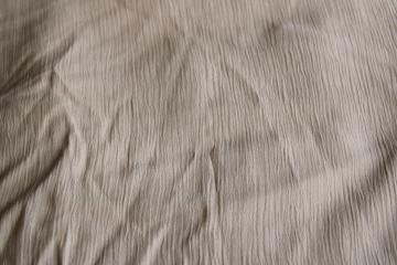80s 90s vintage rayon blend crinkle fabric, warm tan latte solid color