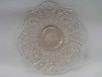 80s ALIG vintage Imperial cake plate w/ low foot pale pink Nucut glass & vintage cake plates and cake stands