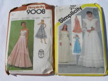 80s Jessica McClintock Gunne Sax bridal sewing patterns, wedding dress & bridesmaid