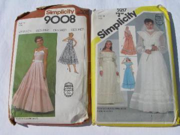 80s Jessica McClintock Gunne Sax bridal sewing patterns, wedding dress & bridesmaid