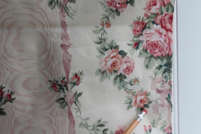 Vintage Knollwood Cyrus Clark Everglaze Fern Pattern Chintz Fabric 16.5 Yards